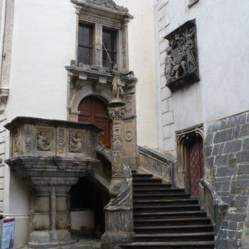 Historyczne schody ratuszowe Görlitz